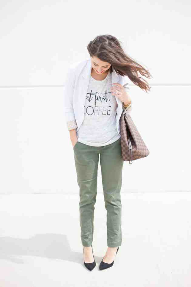 Dress Up Buttercup // A Houston-based fashion and inspiration blog developed to daily inspire your own personal style by Dede Raad   How to Dress Up A Tee to The Office