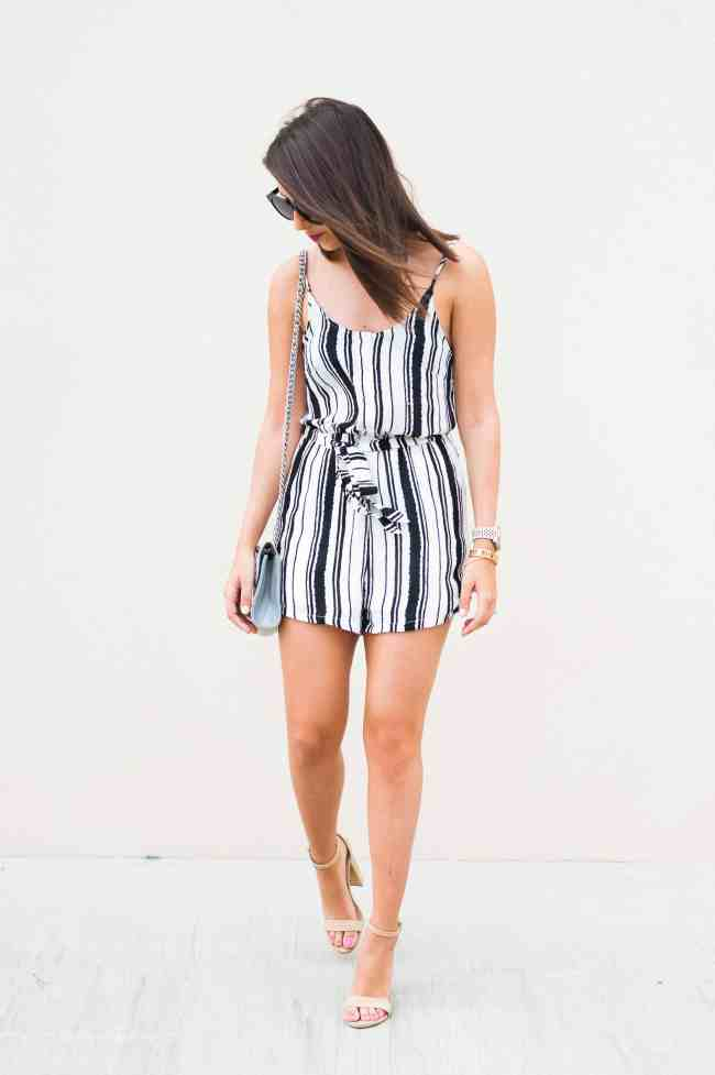 Dress Up Buttercup // A Houston-based fashion and inspiration blog developed to daily inspire your own personal style by Dede Raad | Striped Romper