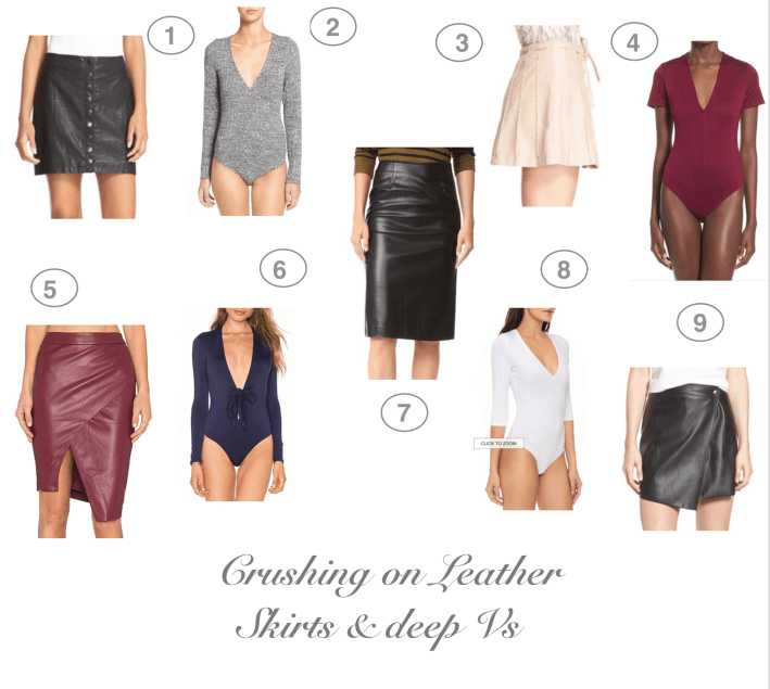 Dress Up Buttercup | Houston Fashion and Travel Blog - Dede Raad | Crushing on Leather Skirts & Deep V's