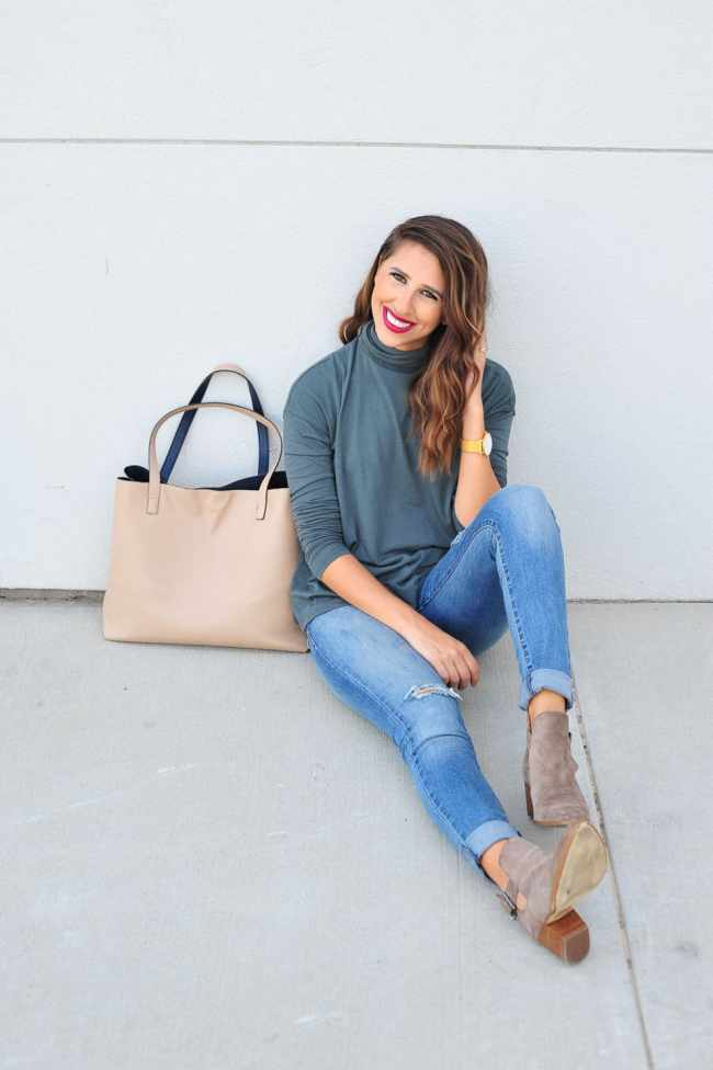 Dress Up Buttercup // A Houston-based fashion and inspiration blog developed to daily inspire your own personal style by Dede Raad | Turtle Neck Tee