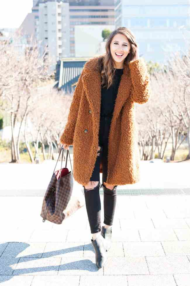 Dress Up Buttercup Houston Blog Teddy Bear Coat In Tokyo