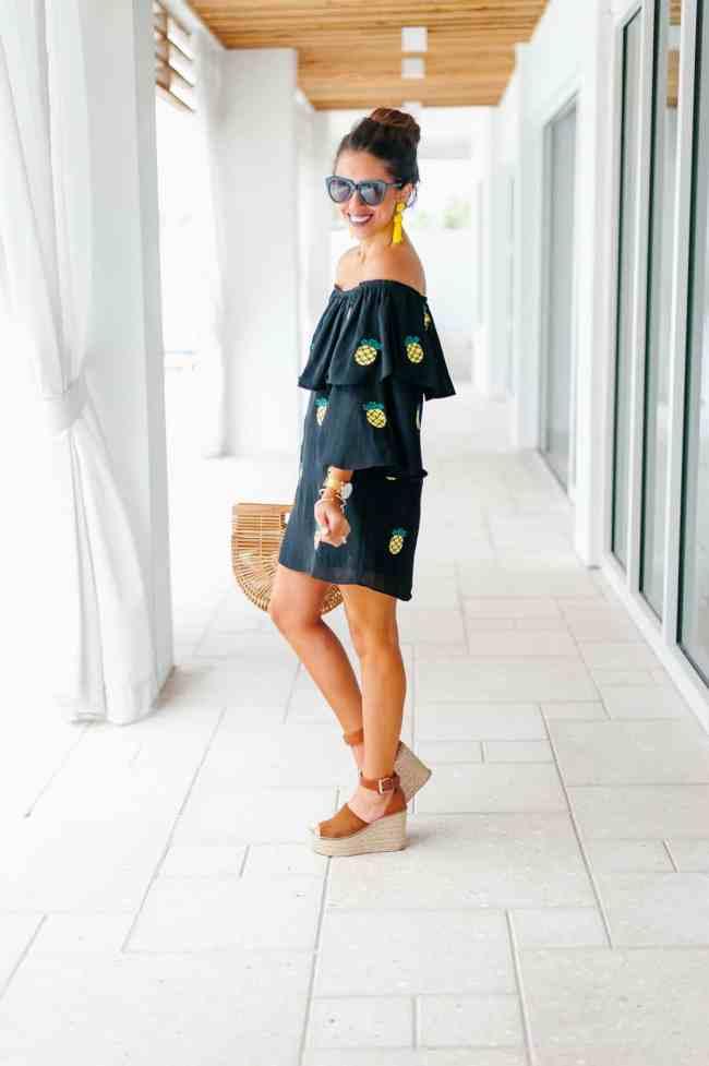 Dede Raad pineapple dress in Seaside, Rosemary Beach, Florida