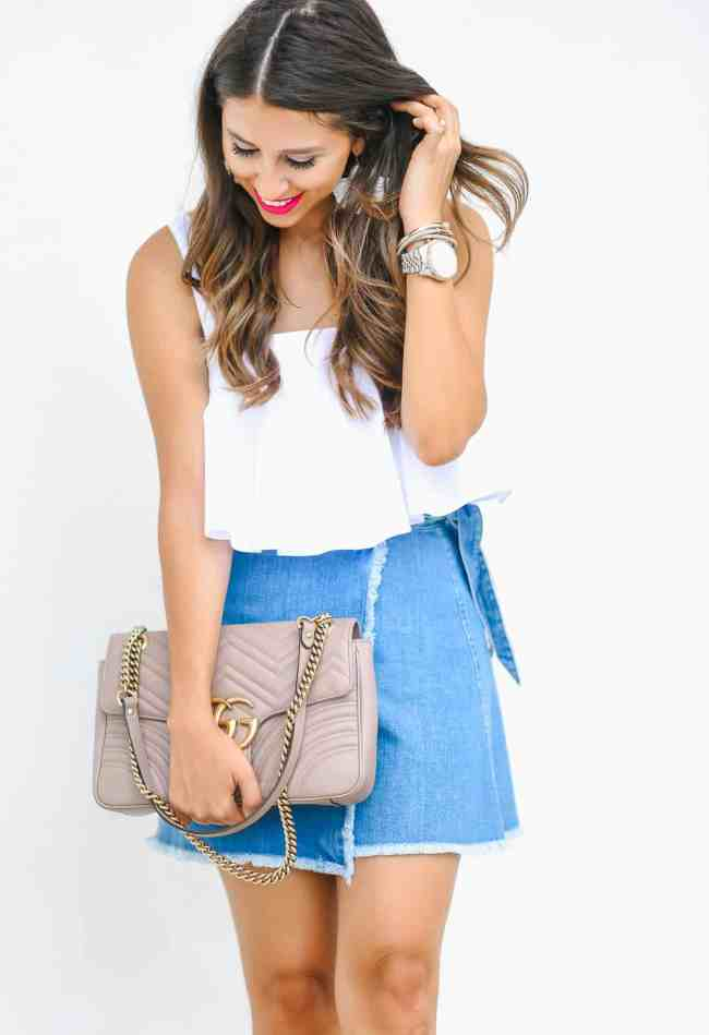 Dede Raad, Dress Up Buttercup, Houston Blogger, Fashion Blogger, A Spin on Denim Skirts