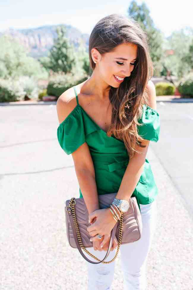 Green top, scottsdale, fall fashion, arizona