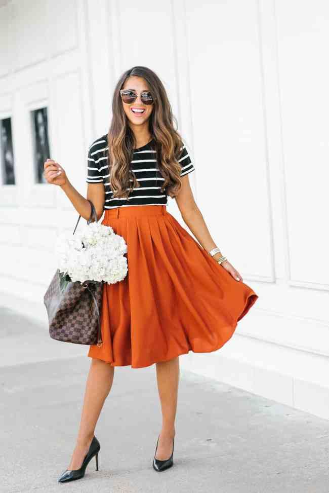 Mod Cloth Midi Skirt, Houston, Texas, summer skirt, houston fashion, fashion blogger, Dress up Buttercup