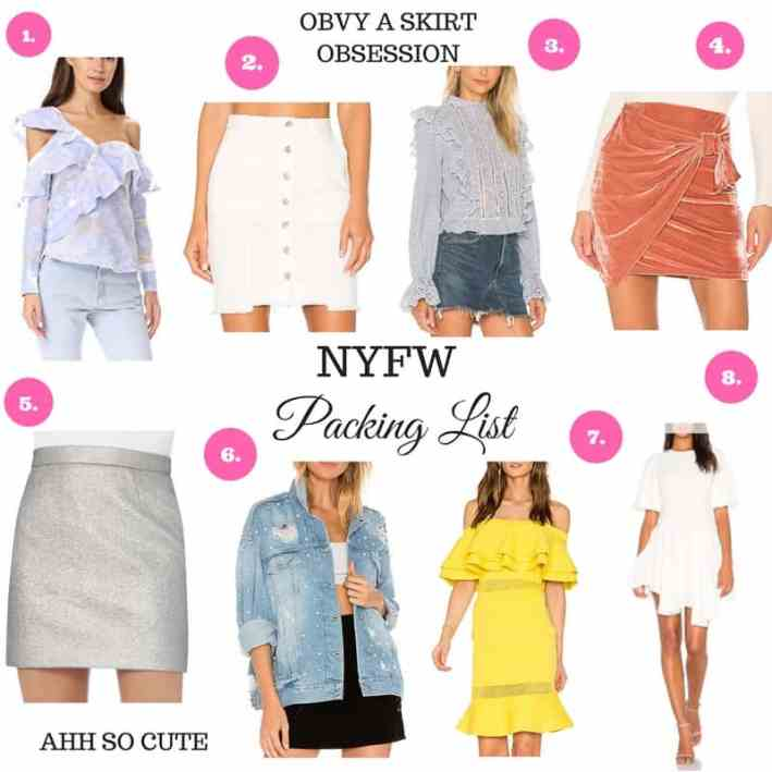 NYFW Packing List, Dress Up Buttercup, Fashion blogger