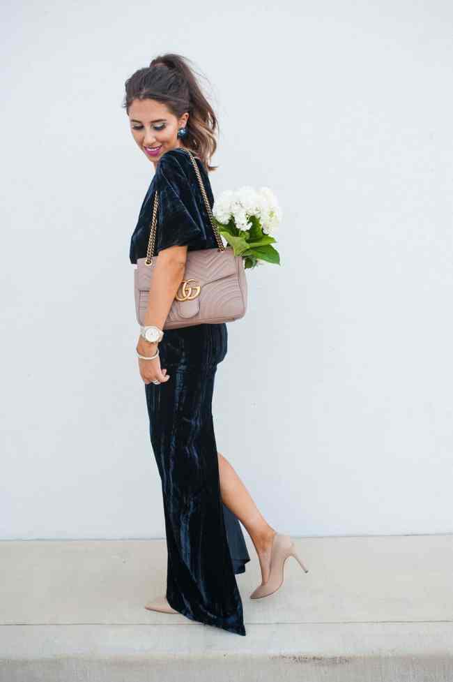 Velvet Gown for the Ball