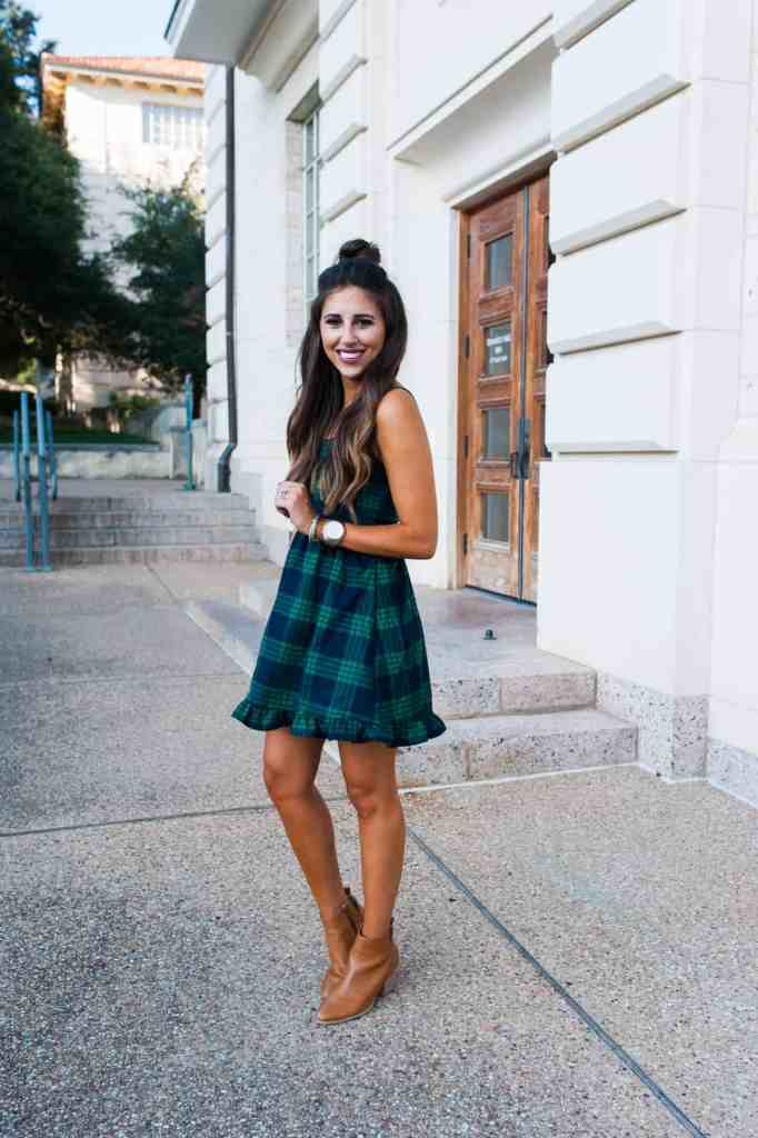 Plaid Mini Dress I Dress Up Buttercup