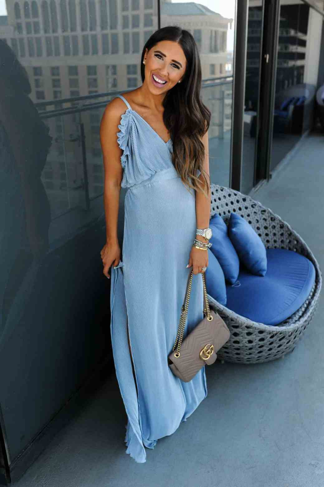 dress up buttercup 1 of 8 - Pleated Blue Maxi