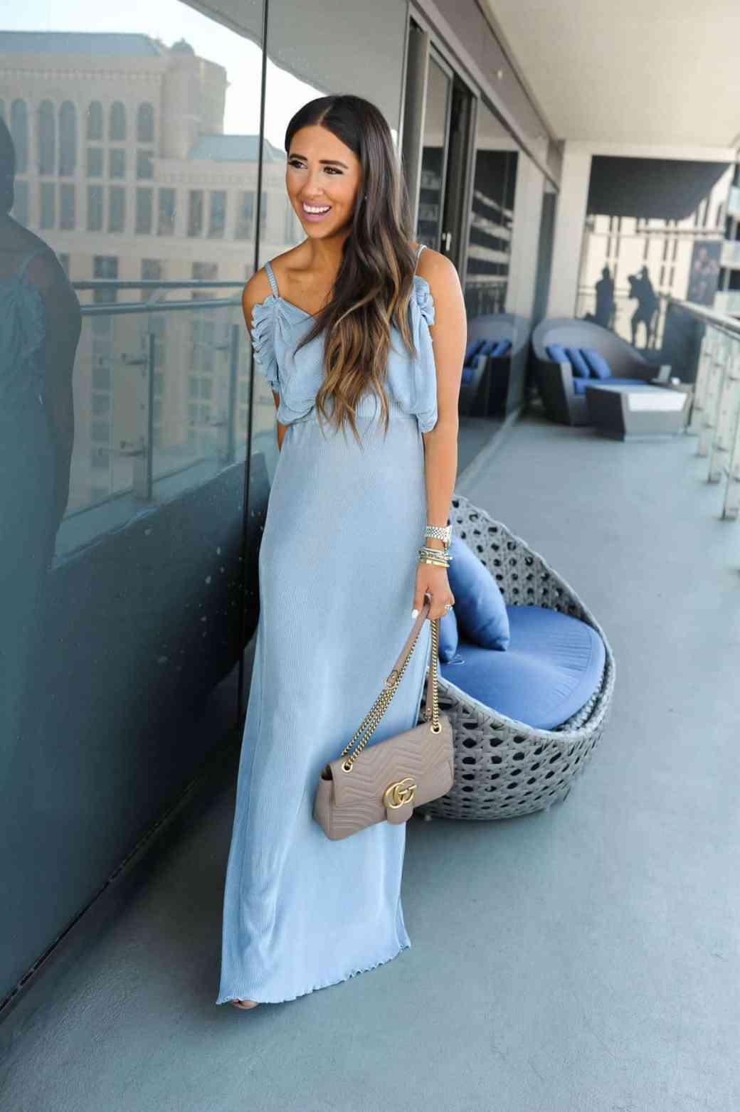 dress up buttercup 3 of 8 - Pleated Blue Maxi