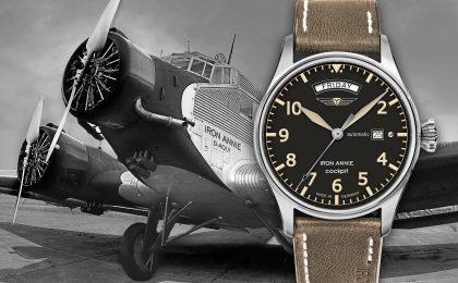 """Die neue Uhrenserie erinnert an das Cockpit einer legendären Maschine, die unter dem Namen """"Iron Annie"""" berühmt wurde."""
