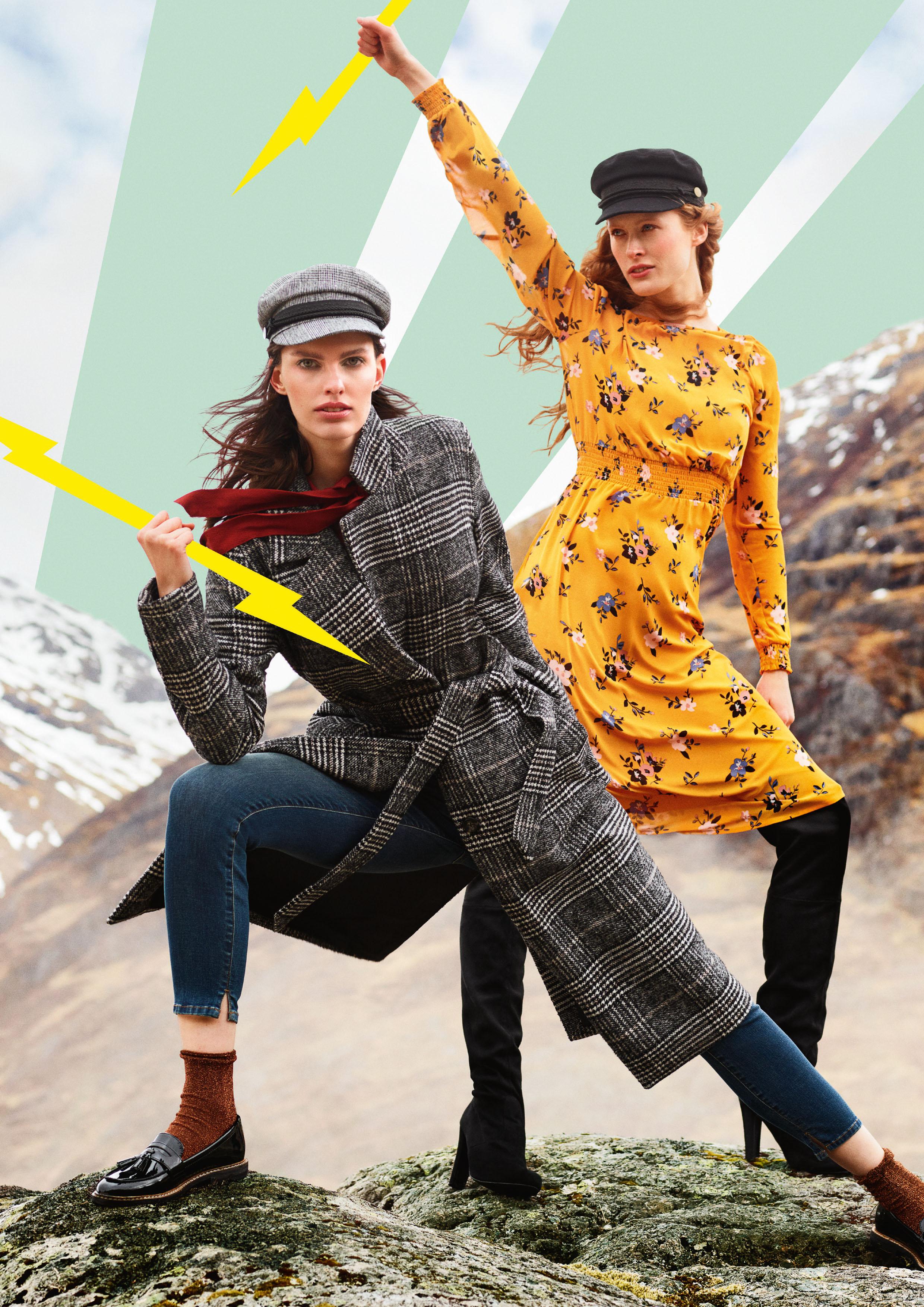 Von Glencheck-Mantel bis Blümchen-Kleid sind mutige Muster die Hingucker der Saison - Karomuster