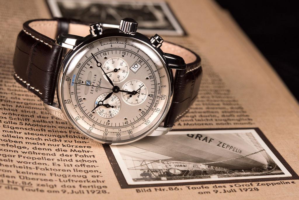 Graf Zeppelin revolutionierte die Luftfahrt. Der gleichnamige Chronograph fängt mit seinem Design den Zeitgeist von damals ein.
