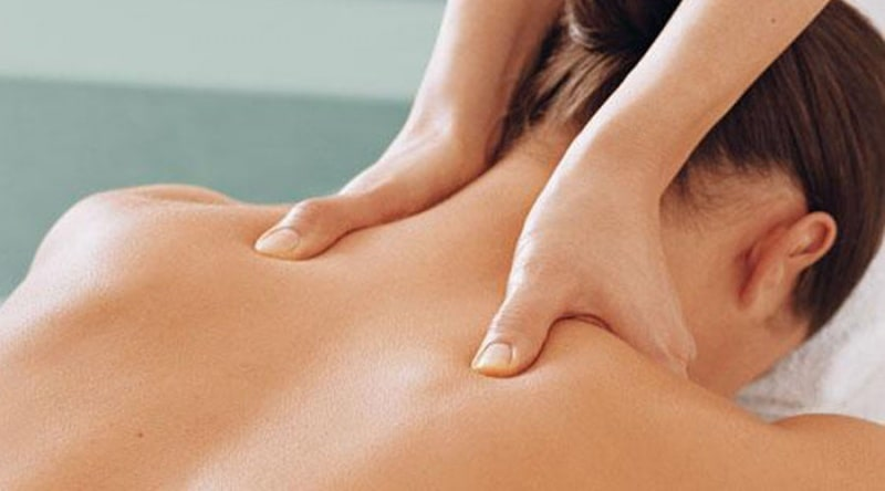 Massage with cervical osteochondrosis