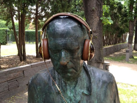 Statue with Headphones