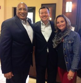 With National Committeeman Glenn McCall and National Committeewoman Cindy Costa