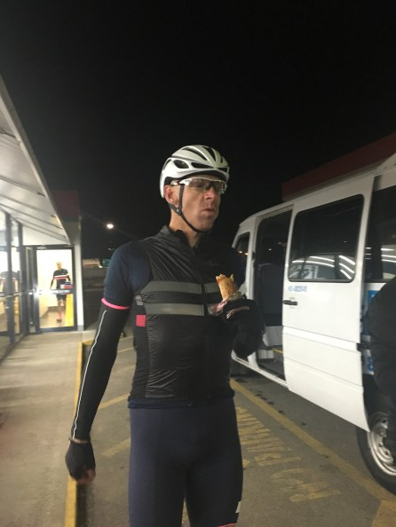 I love a sausage roll and at 5am and when you've ridden that far this one tasted like the best ever.