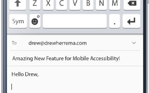 Accessible Mobile Keyboard Option