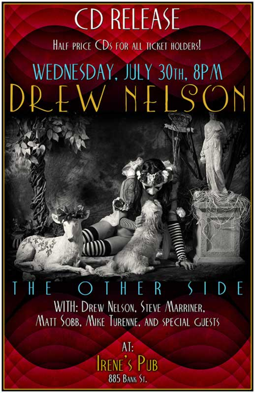 The Other Side release party concert poster.