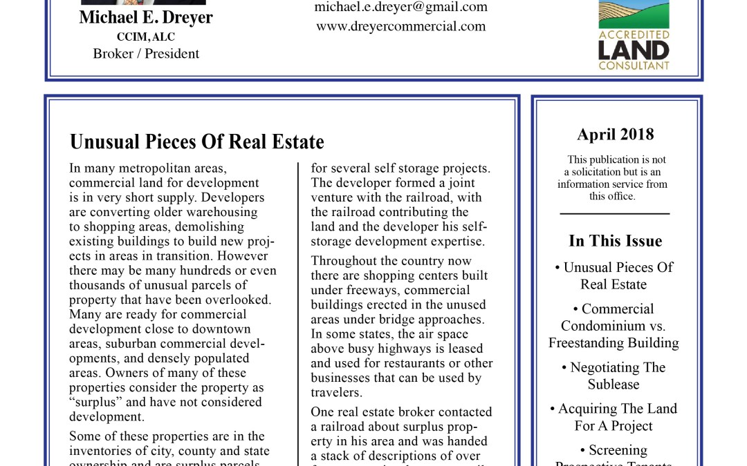 April Commercial Newsletter