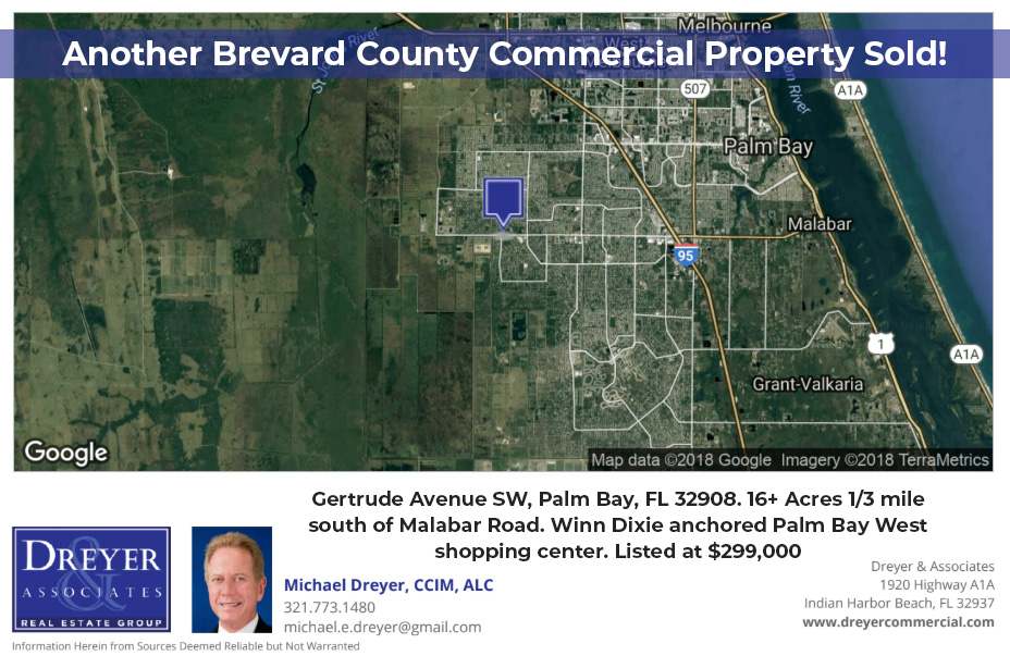 Michael Dreyer Sells Commercial Property in Palm Bay