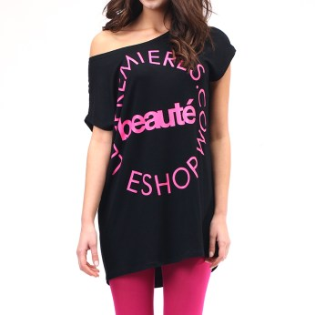 Fashion Online Brand based in Hong Kong and Dongguan :: Spring 2012 Beauté Tee in black