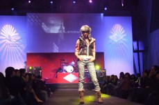 catwalk fashion show live in action, in 2010 Blue Monday:Red China fashion show event | British Fashion Denim Retail Brand - Lee Cooper in China :: retailing fashion show and event management