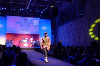 catwalk male camouflage vest model fashion show live in action, in 2010 Blue Monday:Red China fashion show event | British Fashion Denim Retail Brand - Lee Cooper in China :: retailing fashion show and event management