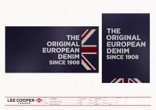 VMP seasonal POP poster design template, Union Jack white chalk types on dark blue blackboard   British Fashion Denim Retail Brand – Lee Cooper in China :: retail design & retailing graphics