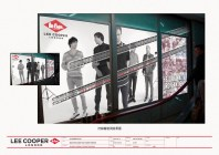 Hangzhou shop opening launch image adhoc poster, bike tyre markings arrival | British Fashion Denim Retail Brand - Lee Cooper in China :: retail design & retailing graphics