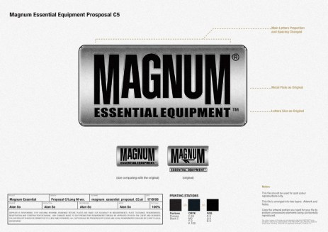 metallic feel revamped logo, before and after, new design and old logo | British Tactical Apparel Wholesale Brand – Magnum Essential Equipment :: branding