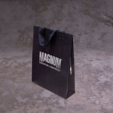 packaging design holistic small paper shopping bag logo silver foil | British Tactical Apparel Wholesale Brand – Magnum Essential Equipment :: branding