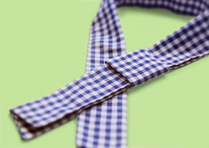 neckerchief, kindergarten inspired accessories merchandising, styling, uniform design, apron, blue white gingham check, zakka | Art Space with Vegetarian Café in Hong Kong : : Retail Identity and Zakka Creation