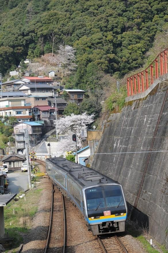 土佐岩原駅を通過する 南風13号