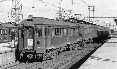 高潮対逍・?工前の地平時代の尼崎駅