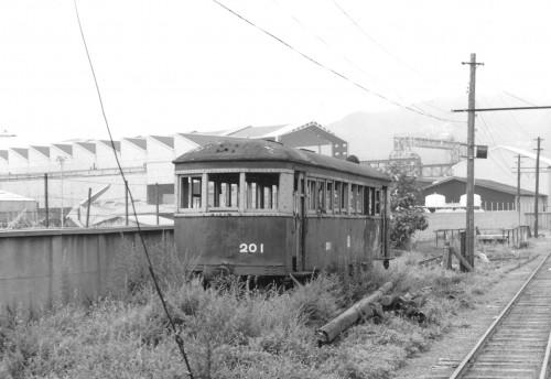 野上電鉄から来たクハ201