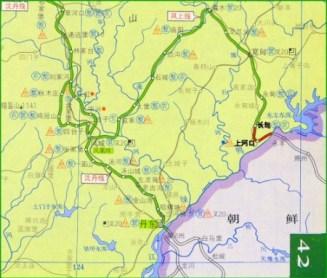 国境の橋_路線図