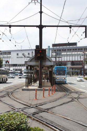 JR岡山駅へのアクセス向上が検討されている駅前電停