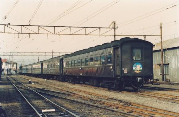 SL急行での運用者車のほんどはオハ35、47系である。