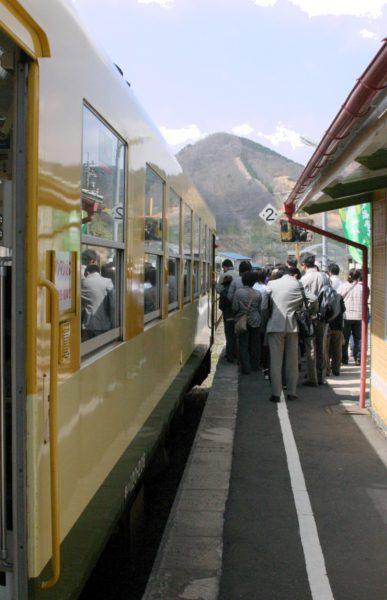2010年5月3日 三井野原駅にて 1450D キハ120206