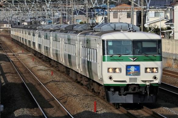 定期列車引退185系1/2021.04.27/Posted by 893-2