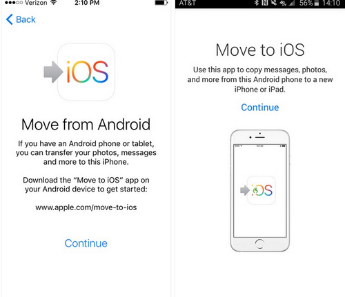 launch move to ios app