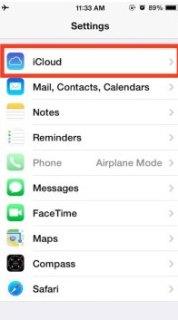 hapus akun iCloud di iPhone dan iPad