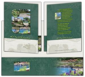 drgli designs oneil folder design print work