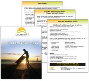 drgli division 7 maintenance brochure design print work