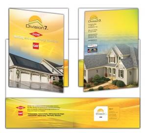 drgli division 7 pocket folder design print work
