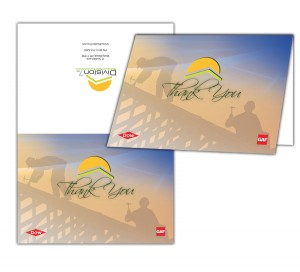 drgli division 7 thank you card design print work