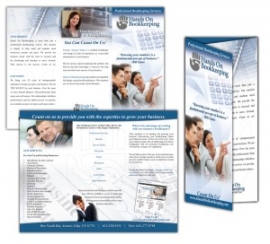 drgli hands on bookkeeping brochure design print work