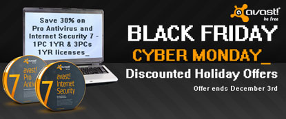 Cyber Week - Save 30% on Pro Antivirus and Internet Security 7 – 1PC 1YR & 3PCs 1YR licenses