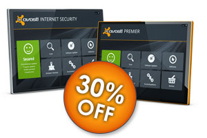 30% off avast! Internet Security and avast! Premier